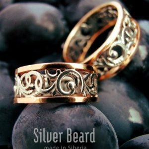 Обручальные кольца с лозой