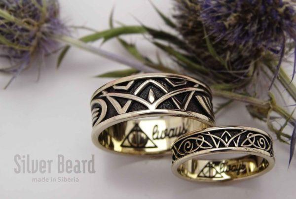 Обручальные кольца в стиле Толкина