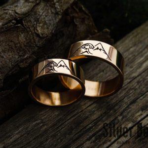Обручальные кольца «Волна и Гора»