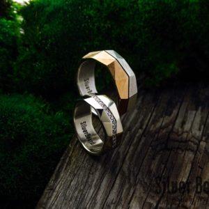 Геометрические обручальные кольца