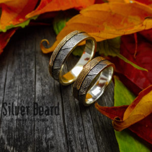 Обручальные кольца Листики