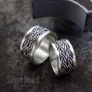 Плетеные обручальные кольца