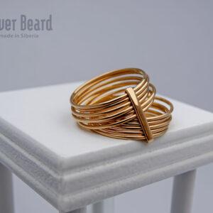 составное кольцо из золота
