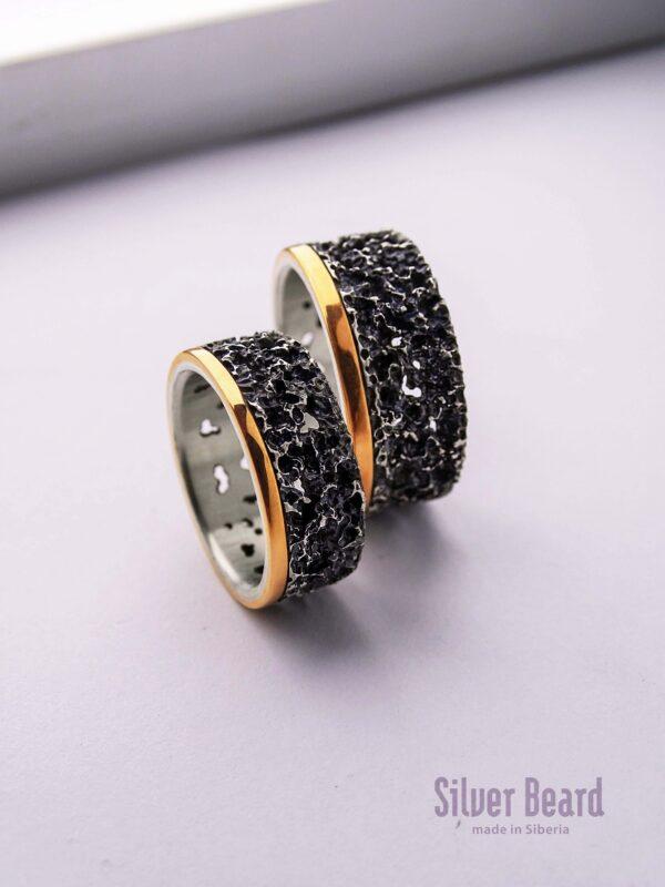 Обручальные кольца «лава»