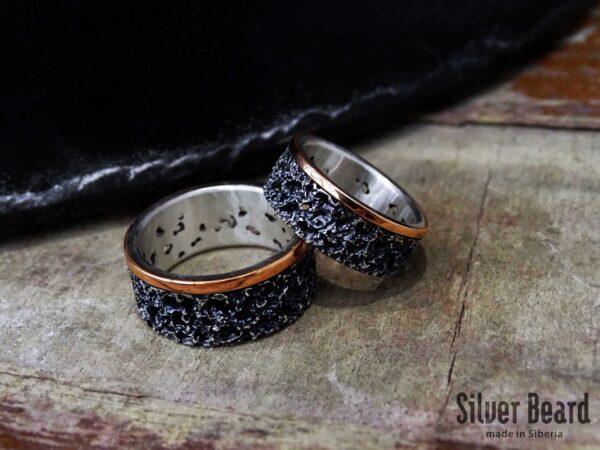 Обручальные кольца вулканическая лава