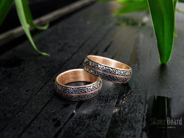 Кольца из золота с серебром